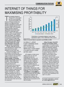INTERNET OF THINGS FOR MAXIMIZING PROFITABILITY